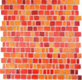 Transparentes Crystal Mosaik Glasmosaik rot Wand Fliesenspiegel Küche  Bad_f | 10 Mosaikmatten