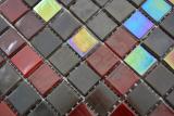 Glas Glasmosaik braun rot Wand Fliesenspiegel Küche  Bad MOS58-0913_m