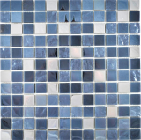 Transluzent Edelstahl Glasmosaik Stahl schwarz Wand Fliesenspiegel Küche  Bad