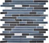 Transluzent Komposit Edelstahl Mosaik Verbund Glasmosaik Artificial Stahl schwarz