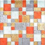 Transparentes Crystal Mosaik Glasmosaik gold silber schwarz rot Struktur