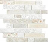 Transluzent Mosaik Brick Verbund ECO Glasmosaik Rose Wand Fliesenspiegel Küche Bad MOS24-2095_f | 10 Mosaikmatten