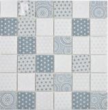 GLAS Mosaik ECO blau Wand Fliesenspiegel Küche  Bad Mosaikfliese Wand Fliesenspiegel Küche Bad_f | 10 Mosaikmatten