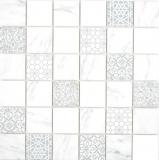 GLAS Mosaik ECO Carrara Mosaikfliese Wand Fliesenspiegel Küche Bad_f | 10 Mosaikmatten