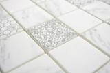 GLAS Mosaik ECO Carrara Mosaikfliese Wand Fliesenspiegel Küche Bad MOS16-0202_m