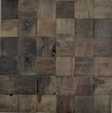 Holz Mosaik boot Old Wood Holz FSC Mosaikfliese Wand Fliesenspiegel Küche Bad