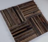 Holz Mosaik Parkett boot OLD Wood Holz FSC Mosaikfliese Wand Fliesenspiegel Küche Bad MOS160-27_m