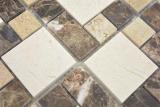 Marmor Mosaik Stein emperador dark cremarfil Mosaikfliese Wand Fliesenspiegel Küche Bad MOS88-1313_m