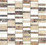 Marmor Mosaik Stein emperador dark cremarfil