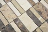 Marmor Mosaik Stein emperador dark cremarfil Mosaikfliese Wand Fliesenspiegel Küche Bad MOS88-1213_m