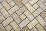 Marmor Mosaik Rad Stein chocolate polished Mosaikfliese Wand Fliesenspiegel Küche Bad MOS88-B13_m