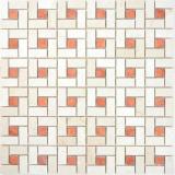 Marmor Mosaik Rad Stein cremarfil pink rose polished