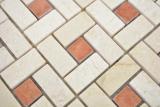 Marmor Mosaik Rad Stein cremarfil pink rose polished  Marmor Mosaik Rad Stein cremarfil pink rose MOS88-B17_m