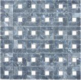 Marmor Mosaik Rad Stein eddy schwarz milky weiss polished Marmor Mosaik Rad Stein grau panther polished