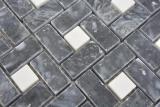 Marmor Mosaik Rad Stein eddy schwarz milky weiss polished Marmor Mosaik Rad Stein grau panther polished MOS88-B19_m