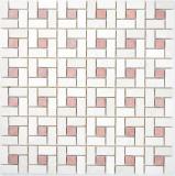 Marmor Mosaik Rad Stein cremarfil pink rose