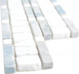 Marmor Bordüre Bordüre grau weiß MOSBOR-GW03_m
