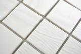 Keramik Mosaik Kanaan weiss plain Mosaikfliese Wand Fliesenspiegel Küche Bad MOS14-0101_m