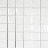 Keramik Mosaik Kanaan weiss plain Mosaikfliese Wand Fliesenspiegel Küche Bad MOS14-0111_f