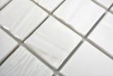 Keramik Mosaik Kanaan weiss plain Mosaikfliese Wand Fliesenspiegel Küche Bad MOS14-0111_m