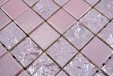 Keramik Mosaik Baku pink rose Mosaikfliese Wand Fliesenspiegel Küche Bad MOS18-1111_m