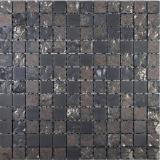 Keramik Mosaik Sabrina schwarz Mosaikfliese Wand Fliesenspiegel Küche Bad MOS18-0333_f