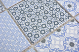 Keramik Mosaik blau Mosaikfliese Wand Fliesenspiegel Küche Bad MOS22B-0404_m