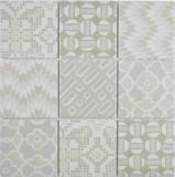 Keramik Mosaik picolo BIANCO Mosaikfliese Wand Fliesenspiegel Küche Bad