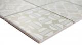 Keramik Mosaik picolo BIANCO Mosaikfliese Wand Fliesenspiegel Küche Bad MOS22B-B01_m