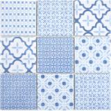 Keramik Mosaik COOL blau Mosaikfliese Wand Fliesenspiegel Küche Bad