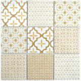 Keramik Mosaik WARM beige Mosaikfliese Wand Fliesenspiegel Küche Bad