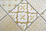 Keramik Mosaik WARM beige Mosaikfliese Wand Fliesenspiegel Küche Bad MOS22B-WB12_m