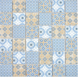 Keramik Mosaik Retro beige gelb blau weis Mosaikfliese Wand Fliesenspiegel Küche Bad