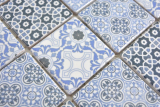 Keramik Mosaik blau Mosaikfliese Wand Fliesenspiegel Küche Bad MOS14-0444_m