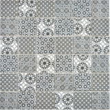 Keramik Mosaik schwarz weiss Mosaikfliese Wand Fliesenspiegel Küche Bad