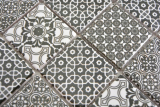 Keramik Mosaik schwarz weiss Mosaikfliese Wand Fliesenspiegel Küche Bad MOS14-0333_m