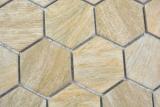 Keramik Mosaik Hexagon beige braun Holzoptik MOS11H-0011_m