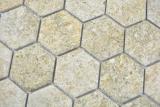 Keramik Mosaik Hexagon Granit beige Mosaikfliese Wand Fliesenspiegel Küche Bad MOS11H-1100_m