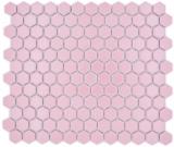 Keramik Mosaik Hexagon altrosa glänzend Mosaikfliese Wand Fliesenspiegel Küche Bad MOS11H-1111_f