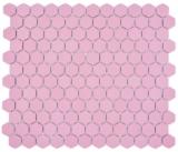 Keramik Mosaik Hexagon altrosa R10B Duschtasse Bodenfliese Mosaikfliese  Küche Bad Boden MOS11H-1111-R10_f