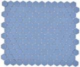 Keramik Mosaik Hexagon blaugrün R10B Duschtasse Bodenfliese Mosaikfliese  Küche Bad Boden MOS11H-0405-R10_f