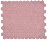 Keramik Mosaik Hexagon klinkerrot R10B Duschtasse Bodenfliese Mosaikfliese  Küche Bad Boden MOS11H-0900-R10_f
