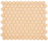 Keramik Mosaik Hexagon ockerorange R10B Duschtasse Bodenfliese Mosaikfliese  Küche Bad Boden MOS11H-1208-R10_f