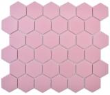 Keramik Mosaik Hexagon altrosa R10B Duschtasse Bodenfliese Mosaikfliese  Küche Bad Boden MOS11H-1112-R10_f