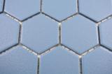 Keramik Mosaik Hexagon blaugrün R10B Duschtasse Bodenfliese Mosaikfliese  Küche Bad Boden MOS11H-0451-R10_m