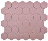 Keramik Mosaik Hexagon klinkerrot R10B Duschtasse Bodenfliese Mosaikfliese  Küche Bad Boden MOS11H-0099-R10_f