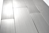 selbstklebender Fliesenspiegel Aluminium metall Wandverblender Küchenrückwand