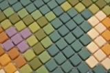 GLAS Mosaik Roma hellgrau matt Mosaikfliese Wand Fliesenspiegel Küche Bad MOS140-RO2_m