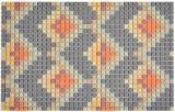GLASMOSAIK Dekor dunkelgrau matt Mosaikfliese Wand Fliesenspiegel Küche Bad