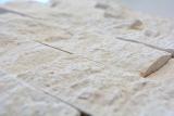 Mosaikfliese Kalkstein Naturstein weiß creme Brick Splitface Limestone 3D Optik Wandverblender Fliesenspiegel - MOS29-49792